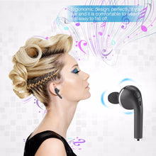 Load image into Gallery viewer, 1pc Wireless Bluetooth 4.1 Headset with built-in microphone Hands-free Call Voice Broadcast Function for iPhone Samsung Tablets