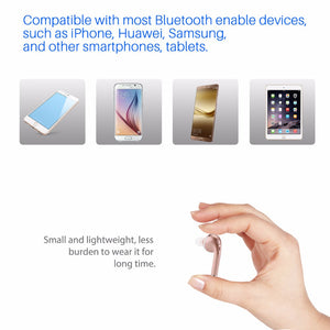 Wireless Bluetooth 4.1 Headset with built-in microphone Hands-free Call Multi-point pairing for iPhone Samsung tablets