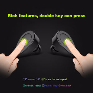 Bluetooth 4.1 True Wireless Stereo Earphones Mini Headset Handsfree Earbud with MIC Charging Box for iPhone 7 Samsung