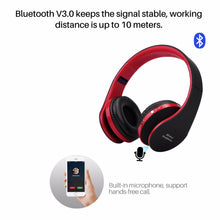 Load image into Gallery viewer, Fornorm Bluetooth NX8252 Stereo Earphone Foldable Headphone With Mic USB Rechargeable 3.5mm Audio Music Player For Iphone Phone