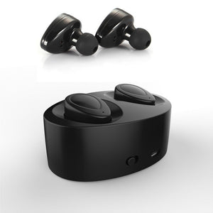 1 Pair Bluetooth 4.1 Earphones Separated Wireless Earphone Stereo Earbuds with Docking Charger for iPhone Samsung Table