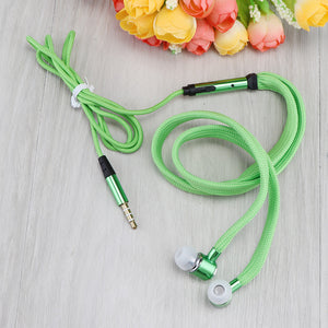 Powstro 3.5mm Wired Earphone 3 color In-ear Earbuds super bass Headset with Microphone for Iphone Samsung Smartphone