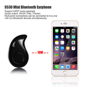 S530 Stealth Headphones Mini Wireless Bluetooth V4.0 Earphone Headset Music Handsfree Voice Prompts for iPhone Android