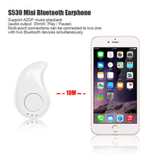 Load image into Gallery viewer, FORNORM MINI Wireless Bluetooth Headset Stealth Handsfree With  A2DP Earphone For Iphone Android Phone