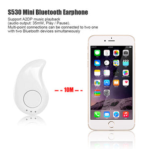 FORNORM MINI Wireless Bluetooth Headset Stealth Handsfree With  A2DP Earphone For Iphone Android Phone