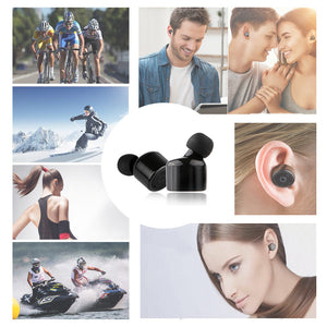 X2T Mini Wireless Bluetooth 4.2 Earphone Binaural Portable Stereo In-Ear Earbuds Rechargeable Charger Box for IPhone Samsung
