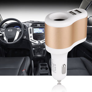 Powstro 3.1A Dual USB Car Charger Mobile Phone Charger Adapter With Cigarette Lighter Socket For iPhone Samsung Xiaomi