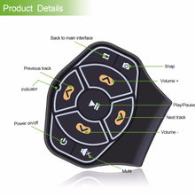 Load image into Gallery viewer, Wireless Bluetooth Steering Wheel Remote Controller Media Button Remote Control Multimedia for iphone Tablet Car Motorcycle bike