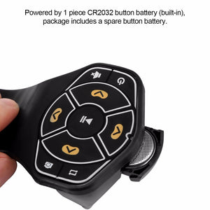 Wireless Bluetooth Steering Wheel Remote Controller Media Button Remote Control Multimedia for iphone Tablet Car Motorcycle bike