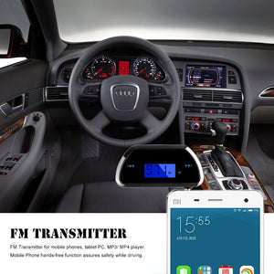 Wireless LCD 3.5mm FM Transmitter for Car Mobile Phones iPhone iPod Samsung MP3 MP4 Player Tablet