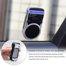 Load image into Gallery viewer, Onever Universal Solar Car Bluetooth Speakerphone Hands-free Sunvisor Speaker LCD display with Car Charger Speaker for iPhone