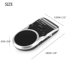 Onever Universal Solar Car Bluetooth Speakerphone Hands-free Sunvisor Speaker LCD display with Car Charger Speaker for iPhone