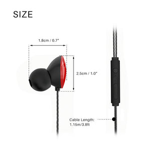 FORNORM Inear Earbuds Stereo Earphone Hands Free Sports Earphone With HD Microphone for Smartphone Iphone MP4 Tablet PC