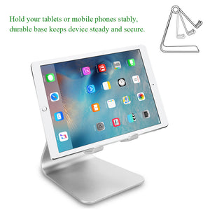 Rotatable Aluminum Phone Stand Universal Mobile Phone Holder Charging Stand For iPhone Samsung Sony Cellphone And Tablet Stand