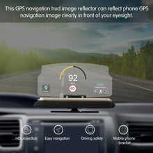 Load image into Gallery viewer, AOZBZ Car HUD Head Up Display Projector GPS Phone Navigation Holder Bracket Multifunctional Reflection Projector for iPhone