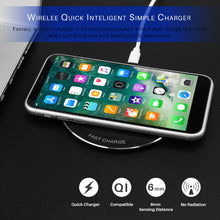 Load image into Gallery viewer, Fornorm Wireless QI Quiky Charger Universal Ultra Slim Free Charger for Samsung IPhone 8X