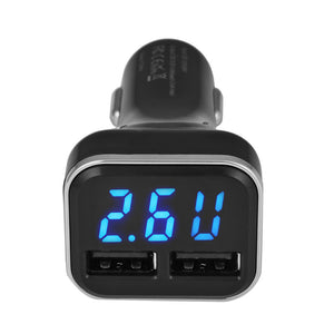 Smart 4.8A Dual USB Car Charge Fast Charge Adapter with Voltmeter for iPhone iPAD Samsung