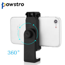 Load image into Gallery viewer, Powstro Cell Phone Stand Vertical Bracket Smartphone Clip Holder 360 Adapter Tripod Mount for iPhone Samsung Selfie