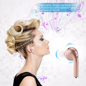 FORNORM Single Side Fashion Bluetooth Earphone Sport Wireless Headset with Microphone Stereo Heave Bass Earbuds for iPhone 7