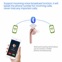 Load image into Gallery viewer, FORNORM Single Side Fashion Bluetooth Earphone Sport Wireless Headset with Microphone Stereo Heave Bass Earbuds for iPhone 7