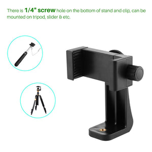 360 degree Tripod ABS Cell Phone Stabilizer Clip Clamp Bracket Adjustable Mount Holder Stand for Iphone Smartphones