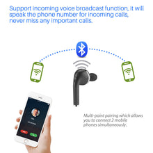 Load image into Gallery viewer, FORNORM Mini Bluetooth Earphone Multi-point Pairing Wireless Bluetooth Headset With Mic Handsfree Call For iPhone Smartphone