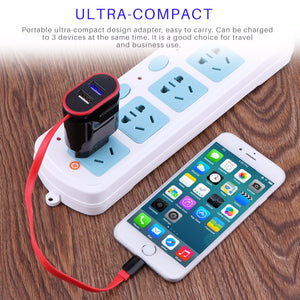Powstro 5V 2.1A Smart Travel Dual USB Charger With 2 USB Adapter Wall Portable For Apple For iphone SmartPhone