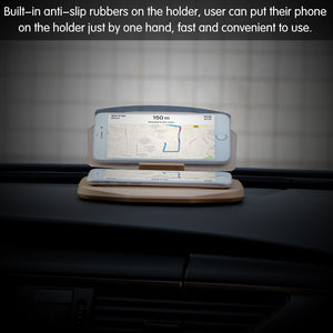 Car HUD Head Up Display Projector Phone GPS Navigation Holder Bracket Multifunctional Reflection Projector for iPhone Samsung