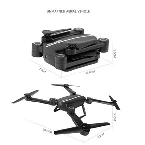 3xBattery+Foldable Quadcopter Q9W MINI wifi HD Camera Drone UFO RC 2.4Ghz RTF