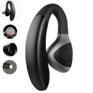 Car Truck Driver Bluetooth Headset Office Bluetooth Headphone Earbuds Wireless Earpiece for iPhone Samsung Galaxy Android Phones