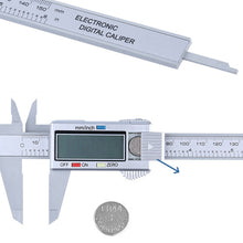 Load image into Gallery viewer, 150mm/6inch LCD Digital Electronic Carbon Fiber Vernier Caliper Gauge Micrometer