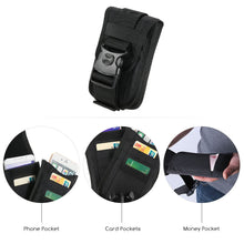 Load image into Gallery viewer, Nylon Molle Pouch Cell Phone Belt Clip Holster Utility Gadget Pouch Waist Bag Outdoor Gear for iPhone
