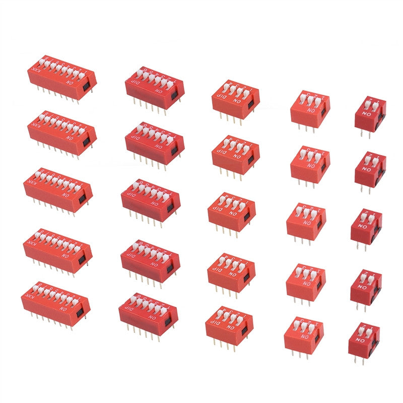 35pcs DIP Toggle Switch  Slide Type Electronic Configuration Coding Switch for Circuit