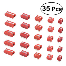 Load image into Gallery viewer, 35pcs DIP Toggle Switch  Slide Type Electronic Configuration Coding Switch for Circuit