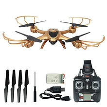 Load image into Gallery viewer, MJX X401H FPV Quadcopter Drone with Altitude-Hold EASY TO FLY RC Real Time Transmission HD Camera RTF Explorer Copter, Left and Right Hand Switch Mode Predator, Golden color