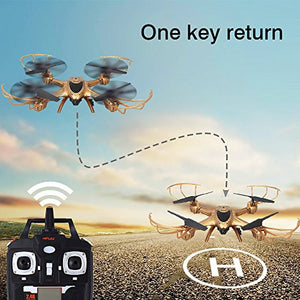 MJX X401H FPV Quadcopter Drone with Altitude-Hold EASY TO FLY RC Real Time Transmission HD Camera RTF Explorer Copter, Left and Right Hand Switch Mode Predator, Golden color