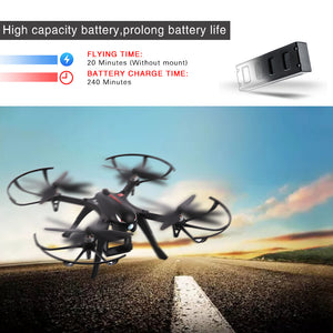 MJX B3 Bugs3 RC Drone, Brushless Moter Quadcopter, Independent ESC, Smart Transmitter Alarm , High Capacity Battery RTF Aircraft Black with Camera-Support GoPro Cameras and Sports Cameras