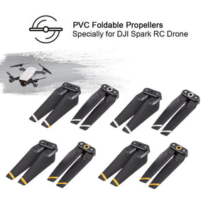 4Pairs FPV Drone PVC Foldable Propeller for DJI Spark RC Drone
