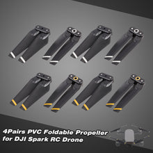 Load image into Gallery viewer, 4Pairs FPV Drone PVC Foldable Propeller for DJI Spark RC Drone