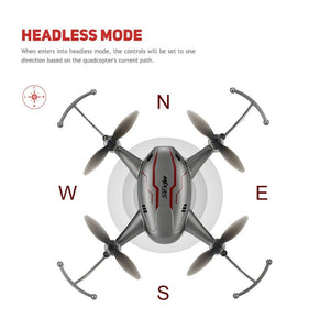 MJX X904 Drone Headless Mode and One Key Return Function 2.4GHz 4 CH 6 Axis Gyro RTF RC Quadcopter Grey