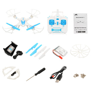 RC TOWN DRAGONKNIGHT 1 Quad-copter FPV Drone with Wifi Camera Live Video Headless Mode 2.4GHz 4 Chanel 6 Axis Gyro RTF RC Quadcopter, Compatible with 3D VR Headset