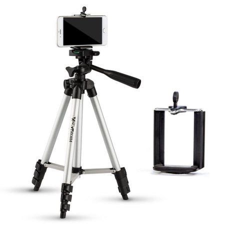 Aluminum Professional Lightweight Camera Tripod for iPhone, Cellphone,Gopro Hero,Cameras
