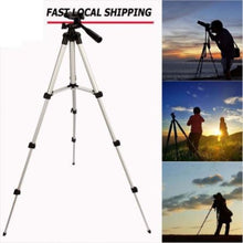 Load image into Gallery viewer, Aluminum Professional Lightweight Camera Tripod for iPhone, Cellphone,Gopro Hero,Cameras