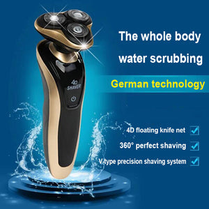 Men's 4D Floating Rotary Electronic Shaver Razor