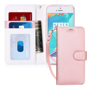 iPhone SE Case, iPhone 5S Case, FYY [Kickstand Feature] Flip Folio Leather Wallet Case with ID&Credit Card Pockets for Apple iPhone/5S/5/5C