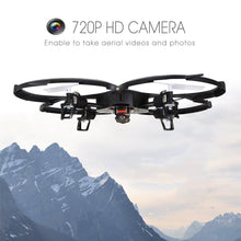Load image into Gallery viewer, Holy Stone U818A Drone with 720P HD Camera 2.4 GHz 6-Axis gyro RC Quadcopter for Kids with Headless Mode, One Key Return and Low Voltage Alarm, Easy & Safe to Fly, Includes Bonus Battery