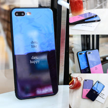 Load image into Gallery viewer, Soft TPU Frame Phone Shell Tempered Glass Assorted Colors Phone Shell Anti-drop Case for IPhone 6/6S IPhone 6/6Splus IPhone 7/8 IPhone 7/8plus IPhone X