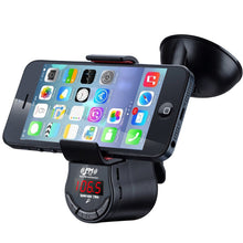 Load image into Gallery viewer, Car FM Transmitter with 360° Phone Holder Hands Free Calls for iPhone