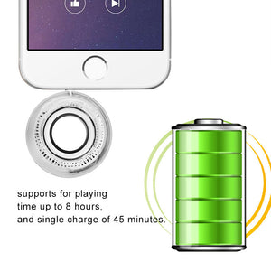 Mini Smartphone 3.5mm Aux Speaker Rechargeable Compact Loudspeaker Powerful Clear Bass Plug And Play for iPhone iPad