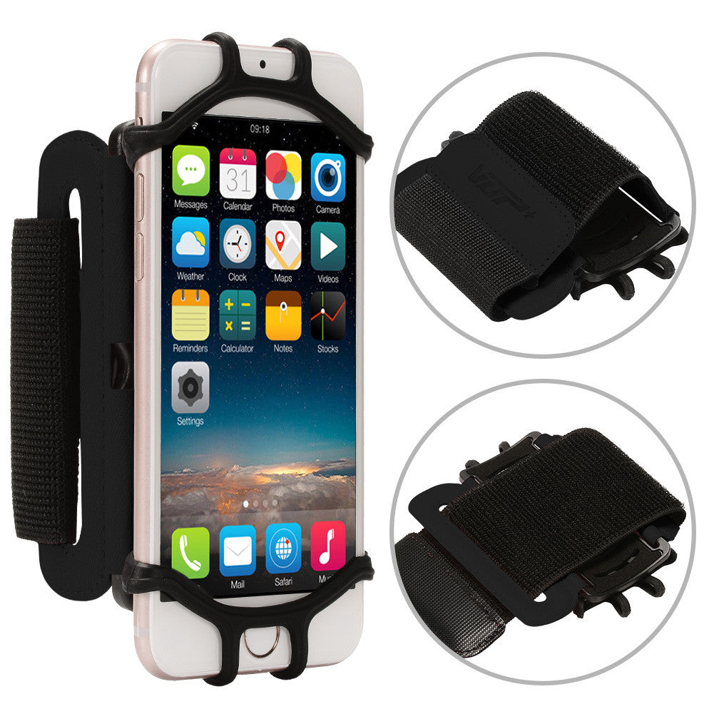 Sports Running Forearm Armband for iPhone 7 Universal Cell Phone Smartphones Arm Case for Exercise Color:Black